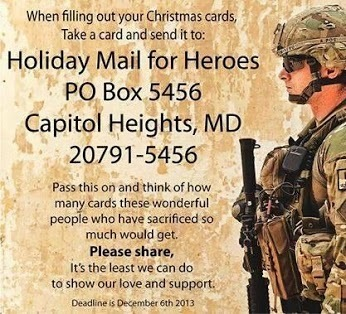 Holiday Mail for Heroes!!!   Team Pendley REMAX REAL ESTATE TIPS   Scoop.it