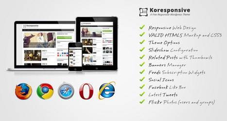 Koresponsive – A free Responsive WordPress Theme | Colourful websites | Scoop.it