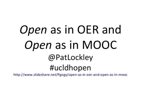 Open as in oer and open as in MOOC | Connectivi... | CMOOC | Scoop.it