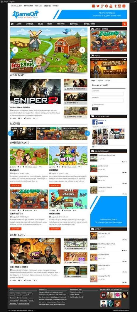 Gameon Arcade Wordpress Theme - ServerThemes.Net | Download Premium WordPress Themes | Scoop.it