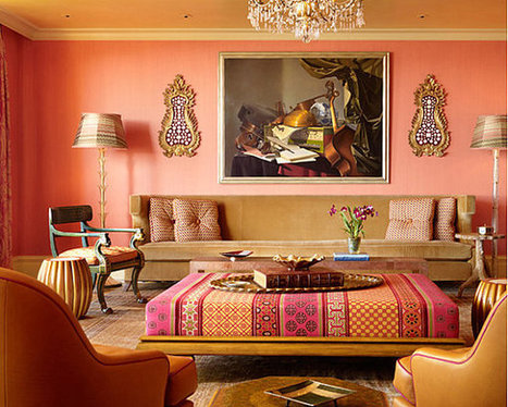 Decorating with Shades of Coral   Designing Interiors   Scoop.it