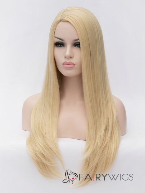 Newest Long Blonde Female Hairstyle 100% Synthetic Wig : fairywigs.com | Synthetic Hair Wigs | Scoop.it