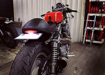 Inazuma café racer: The red Sporty by Crazy Garage | Cafe Racers | Scoop.it