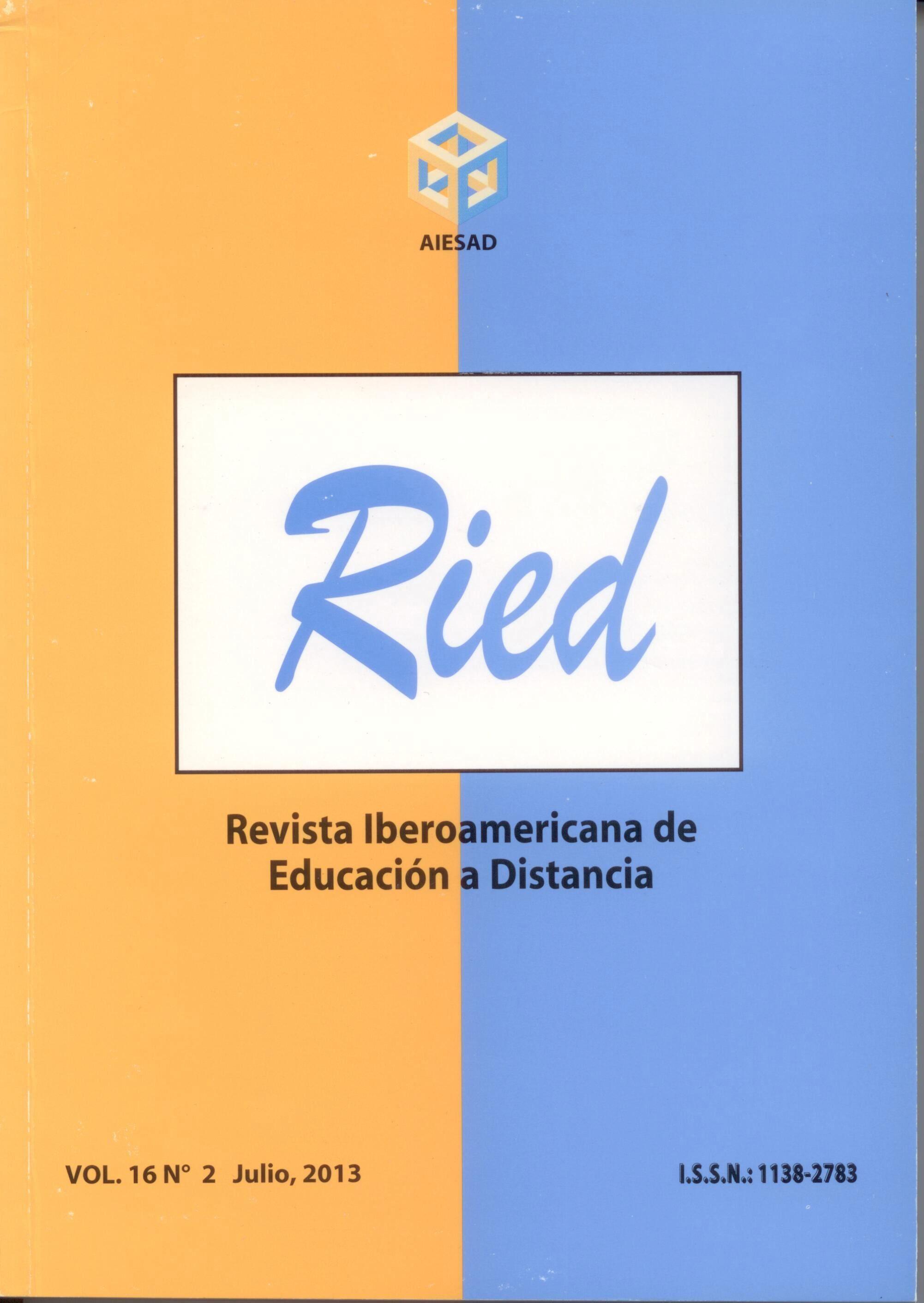 e-learning, conocimiento en red: RIED Sumario volumen 16 nº 2 2013. Revista Iberoamericana de Educación a Distancia