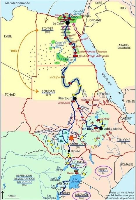 Le Nil, axe de développement économique et de tensions géopolitiques | ECS Géopolitique de l'Afrique et du Moyen-Orient | Scoop.it