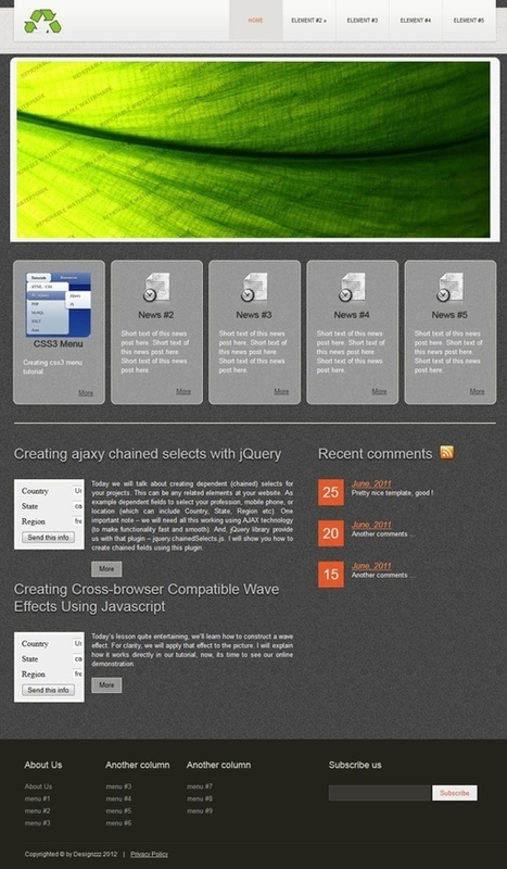 How to Design a Single Page HTML5 and CSS3 Web Layout | Lectures web | Scoop.it
