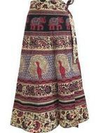 "GYPSY HIPPY 100% COTTON WRAP SKIRT APRICOT SARONG ELEPHANT PRINT LONG SKIRT 32"" | women's fashion | Scoop.it"