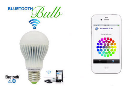 Bluetooth Bulb lets you switch on, time, dim and color your lighting from your phone (video) | FrankTechConnect | Tech & Connection | Scoop.it