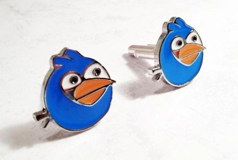 Angry Birds Cufflinks   Angry Birds   Scoop.it