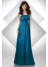 Empire Strapless Floor Length Blue Bridesmaid Dress Bbbj0008 for $370 | 2014 landybridal wedding party dresses | Scoop.it