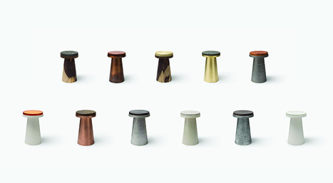 jeonghwa seo inserts textured materials into conical furniture | architecture | Scoop.it
