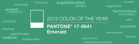 2013 Color of the Year: PANTONE 17-5641 Emerald | web development using open source under linux | Scoop.it