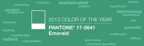 2013 Color of the Year: PANTONE 17-5641 Emerald | Designer's Resources | Scoop.it