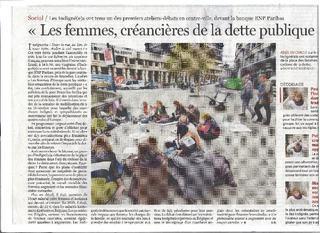Article Le Soir Femmes créancières dette Indignées #marchabruselas #walktobrussels | The Marches to Brussels | Scoop.it