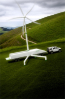 Giant wind turbine on wheels can be set up anywhere you want | Renewable Energy & Clean Technology: Keys to a Revitalization of US Manufacturing & Job Creation | Scoop.it