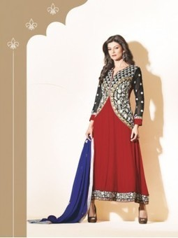 Latest Sushmita Sen Black And Maroon Georgette Anarkali Suit 9645- Sushmita Sen Collection Sushmita Sen Dress | Online Suit Salwar Kameez |  Suit Price| Suit Sale | Apparel | Women Suit | Scoop.it
