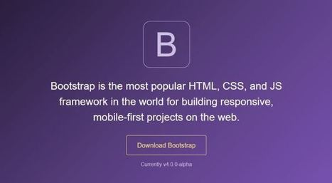 Bootstrap 4: New & Cool Features You'll Love | Julien Canepa HTML5 CSS3 JS... | Scoop.it