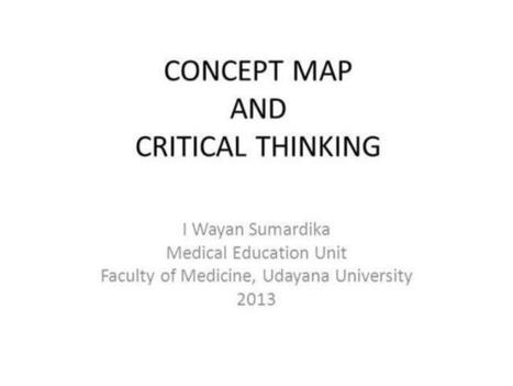 Concept Map And Critical Thinking Ppt Presentation | Medic'All Maps | Scoop.it