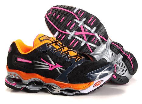 Mizuno Wave Prophecy 2 Womens Running Shoes Black Orange.jpg (750x550 pixels)   fashionshoes   Scoop.it