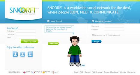 SNOORFI, un réseau social mondial pour les Sourds | t(rgsrty | Scoop.it