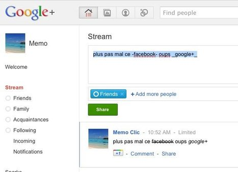 Google+ : 10 astuces à connaître | Google - le monde de Google | Scoop.it