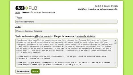 dotEPUB Creator, crea tu propio libro en formato EPUB y MOBI a partir de texto plano | VIM | Scoop.it