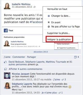 5 Utilisations Marketing pour les Posts Intégrés de Facebook | WEBMARKETING | Scoop.it