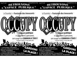 OCCUPATION fontaine des innocents | #marchedesbanlieues -> #occupynnocents | Scoop.it