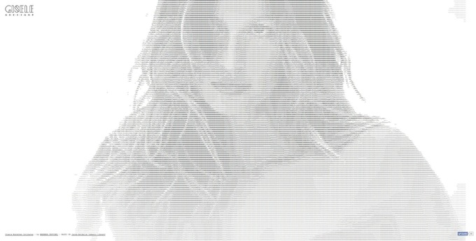 ASCII Art - Gisele Bündchen Intimates: ASCII ART | Ads of the World™