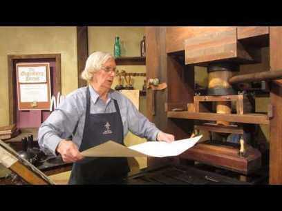 Demonstration of a working Gutenberg printing press   Educommunication   Scoop.it