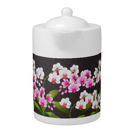 Pink White Phalaenopsis Orchid Flowers Teapot from Zazzle.com | Teapots & Pitchers | Scoop.it