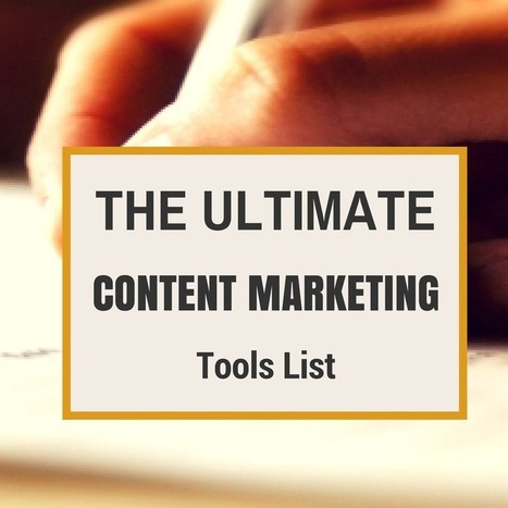 The Ultimate Content Marketing Tools List | Effective Inbound marketing practices | Scoop.it