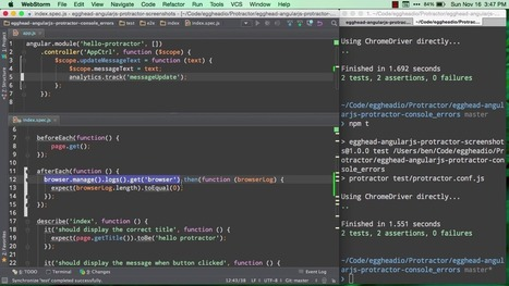 Use protractor to catch errors in the console - AngularJS Video Tutorial #free   Nova Tech Consulting S.r.l.   Scoop.it