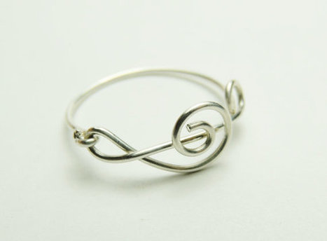 Treble Clef Ring - Music Note Sterling silver wire ring | Sterling silver wire rings | Scoop.it