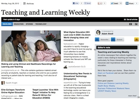 Aug 6 - Teaching and Learning Weekly | Studying Teaching and Learning | Scoop.it