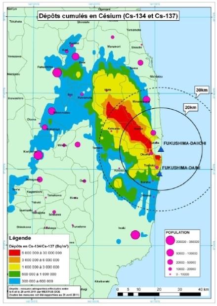 Synthèse des informations disponibles sur la contamination radioactive de l'environnement terrestre japonais provoquée par l'accident de Fukushima Daiichi | IRSN | Japon : séisme, tsunami & conséquences | Scoop.it