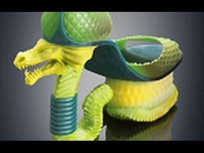 "Stratasys Color Multi-Material 3D Printing Puts ""Garden of Eden"" in Fashion - YouTube 