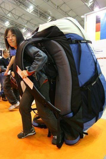 Huge Backpack used by the small people of the large world | Fashion | Scoop.it