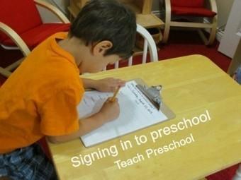 Signing in to preschool | Teach Preschool | Scoop.it