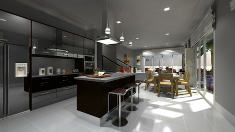 Architectural Modeling & Rendering: 3D Kitchen | Architecture Engineering & Construction (AEC) | Scoop.it
