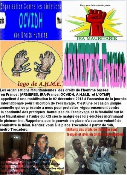Manif contre l'esclavage en Mauritanie le 2 décembre 2013 à Paris place Trocadéro à 14h - VIVE LA RÉVOLUTION ! | Mauritanie | Scoop.it