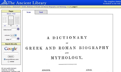Dictionary of Greek and Roman Biography and Mythology | Latin.resources.useful | Scoop.it