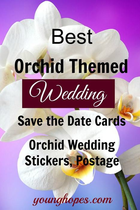 Orchids Save the Date Cards, Stamps, Stickers • | Weddings | Scoop.it