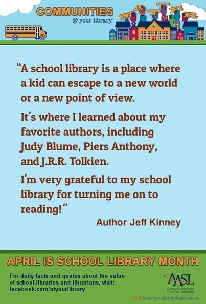 30 Reasons to Celebrate School Libraries | 21st Century Media Learning Center | Scoop.it