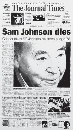 From the archives — 2004: Sam Johnson dies - Journal Times | arts archives | Scoop.it