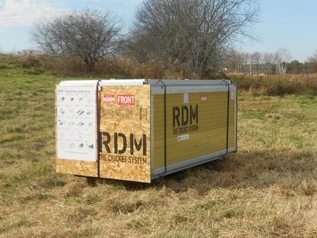 """""""Rapid Deployment Module"""" shelter assembles in 25 minutes, no tools required 