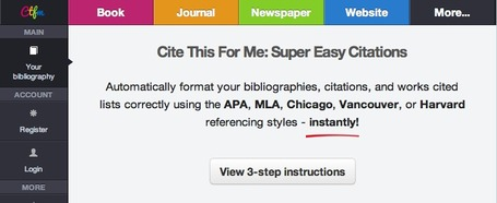 Cite This For Me: The Easy Citation Generator | K-12 Web Resources | Scoop.it