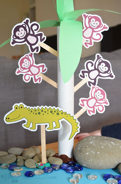 Printable Puppets - Five Cheeky Monkeys... and a Crocodile! - picklebums.com | ESL Lesson Ideas | Scoop.it