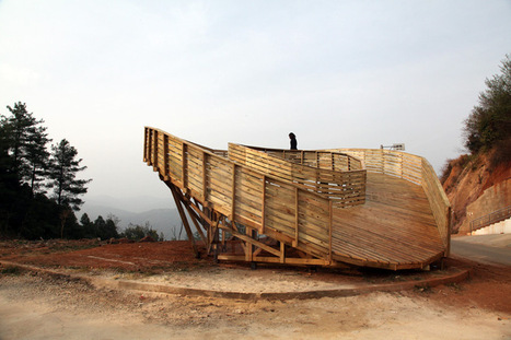 the sweep observation deck by olivier ottevaere + john lin in china - designboom   architecture & design magazine   Architecture, design & algorithms   Scoop.it