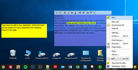 DeskNotes - créez des notes autocollantes sur votre bureau   Chroniques libelluliennes   Scoop.it